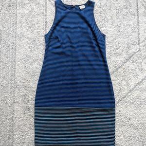 Racerback Dress in stripe color block